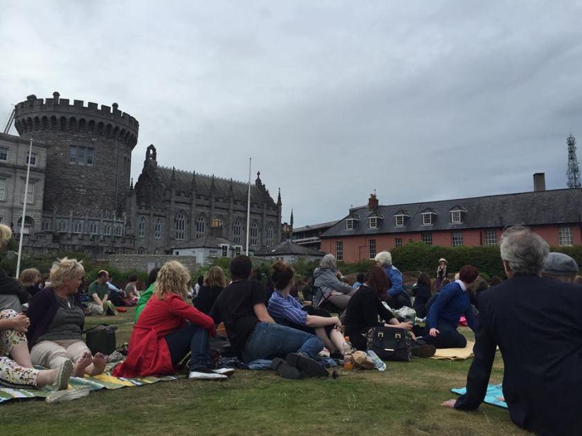 Dublin Castle crowds